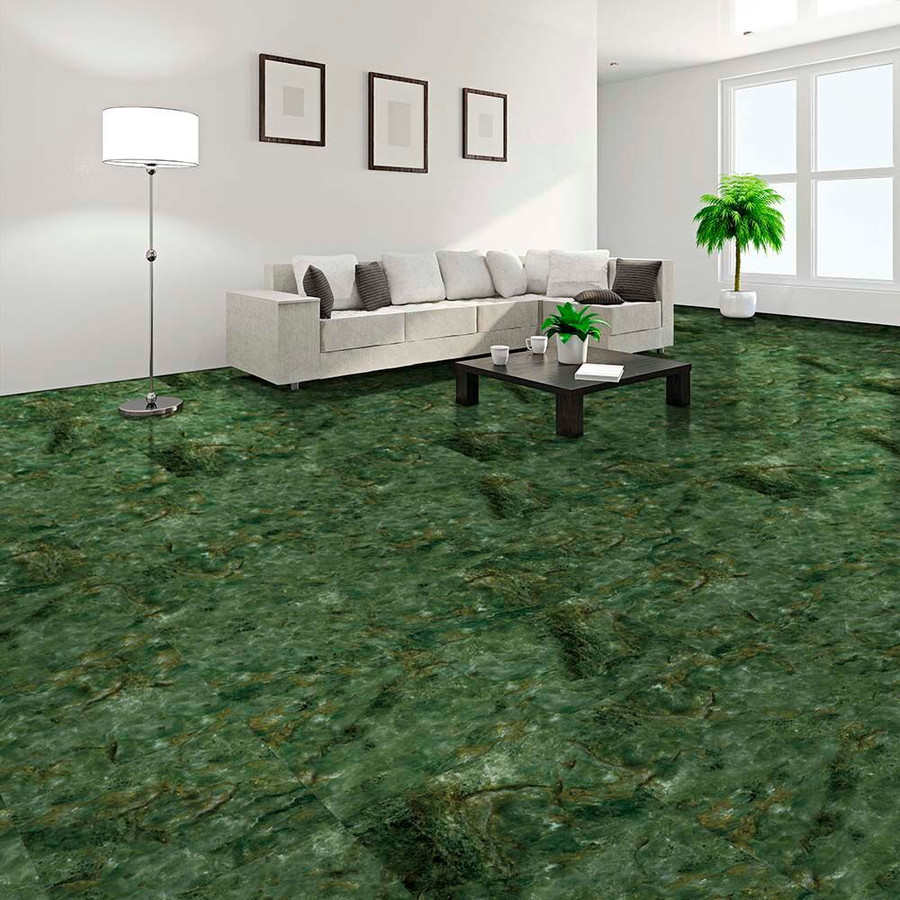 Perfection Floor Tile Natural Stone Marble Verde Stone - living room setting