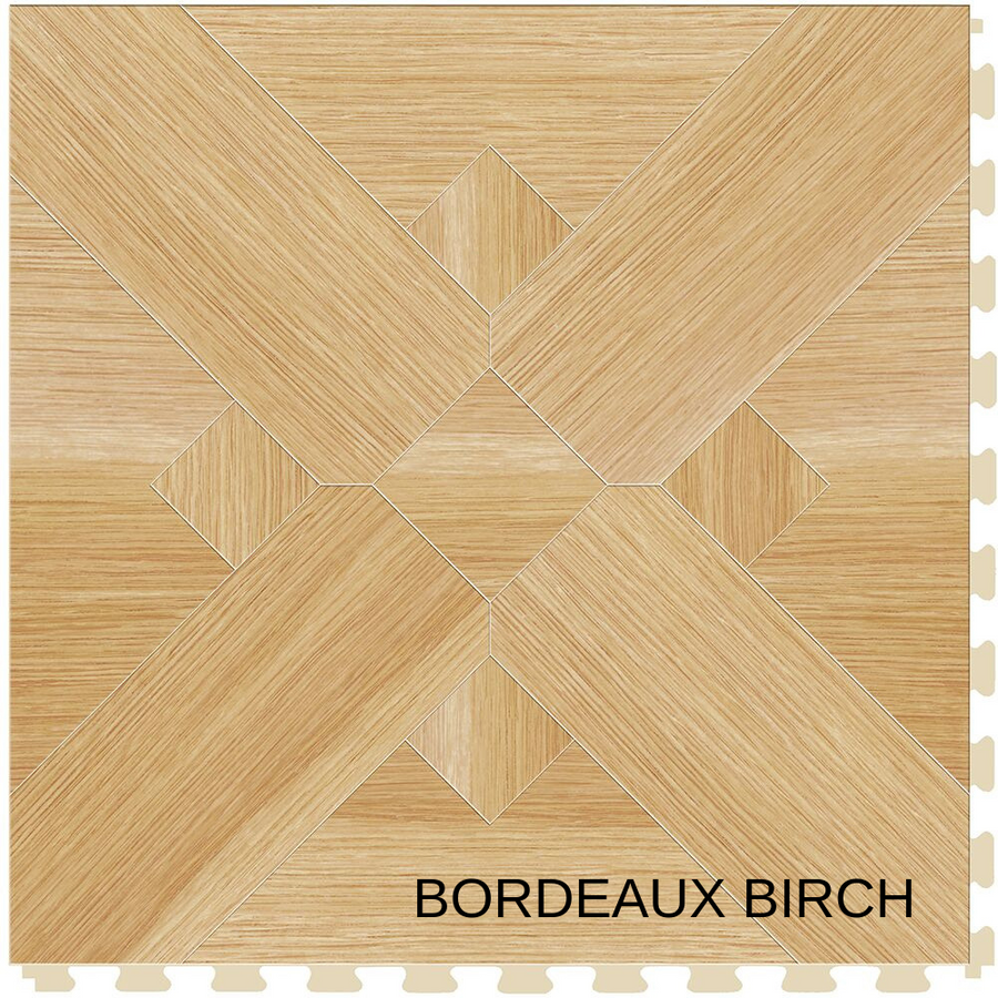 "Perfection Floor Wood Grain Tile 20"" x 20"" x 5MM (6 Per CS) - Birch Bordeaux"