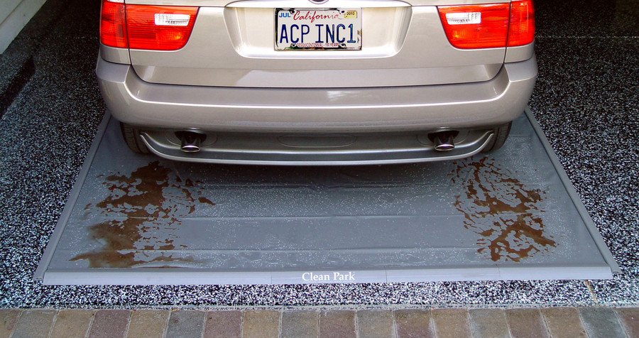 Clean Park Parking Mat keeps mud off of your garage floor