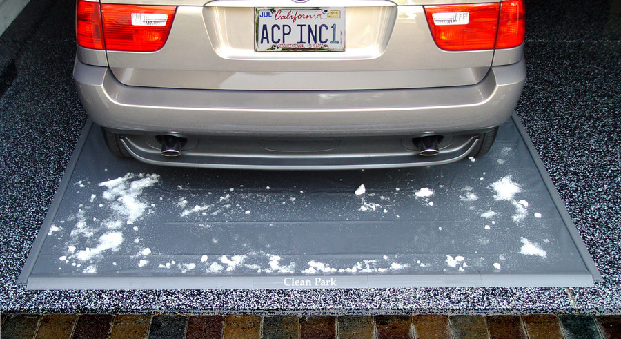 Clean Park Parking Mat keeps snow off of your garage floor