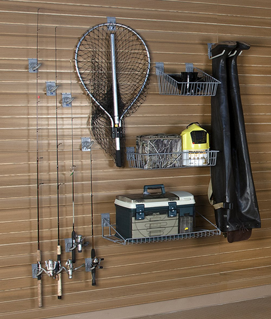 StoreWall Fishing Storage Kit, Heavy Duty Panels and Accessories