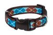 Chocolate Snow Cone Dog Collar-Argyle