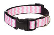 Chevron Dog Collar-Pink