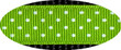 Pembroke Polka Dot Dog Collar-Lime Green