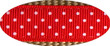 Pembroke Polka Dot Dog Collar-Red/Tan