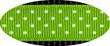 Pembroke Polka Dot Dog Leash-Lime