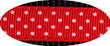 Pembroke Polka Dot Dog Leash-Red