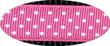 Pembroke Polka Dot Dog Leash-Pink