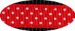 Pembroke Polka Dot Dog Harness-Red
