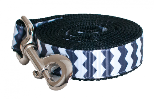 Chevron Black Leash