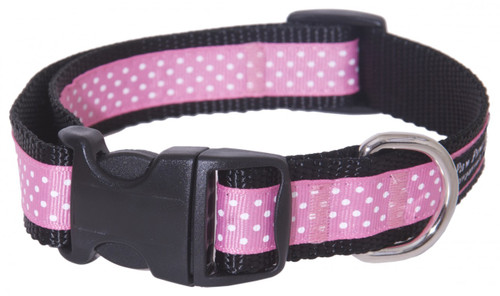 Pembroke Polka Dot Dog Collar-Pink