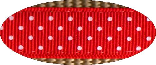Pembroke Polka Dot Dog Leash-Red/Tan
