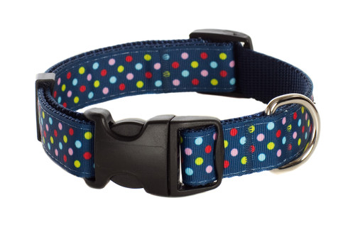 Bubble Gum Dog Collar - Tutti Frutti on Blue