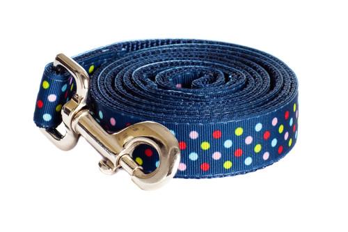Bubble Gum Dog Leash - Tutti Frutti on Blue