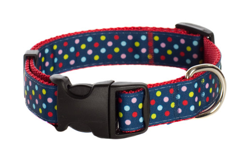 Bubble Gum Dog Collar - Tutti Frutti on Red