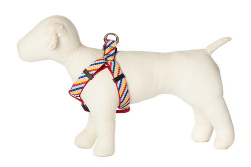 Bubble Gum Dog Harness - Mumbo Jumbo on Red