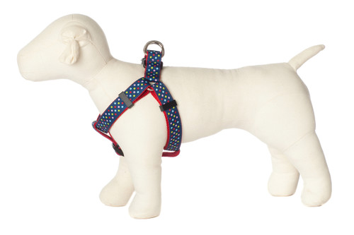 Bubble Gum Dog Harness - Tutti Frutti on Red