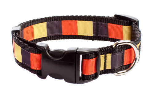 Halloween Dog Collar - Candy Corn Block