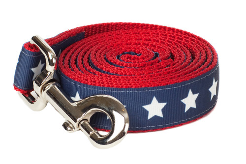 Americana Park Dog Leash-Stars
