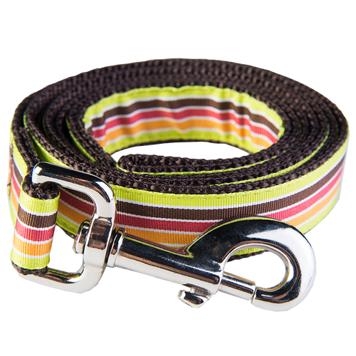 Margarita Mix Dog Leash-Mellow Yellow Stripe