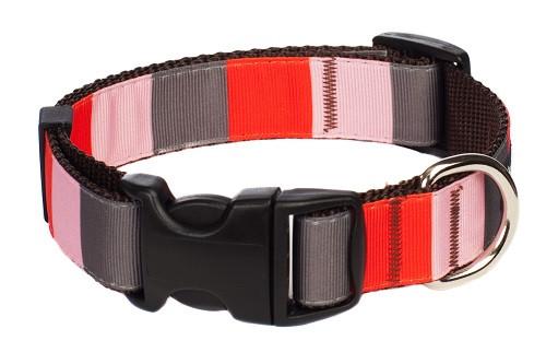 Yorkshire Dog Collar - Yorkshire Block on Brown