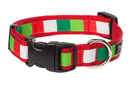 Christmas Morning Dog Collar - Be Merry Block