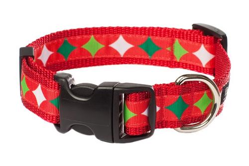 Christmas Morning Dog Collar - Christmas Stocking Stars
