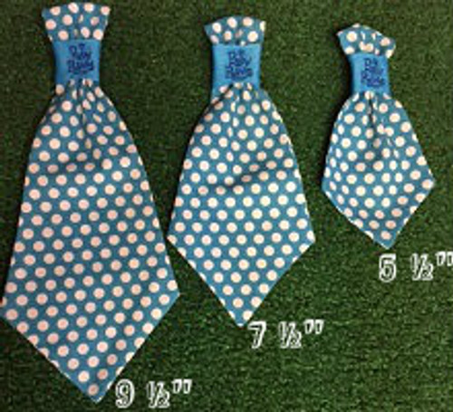 Dog Neck Ties - Where is my chauffeur Blue Polka Dot