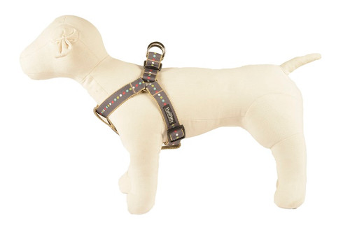 Retro Dog Harness - Robot Dot