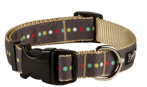 Retro Dog Collar - Robot Dot