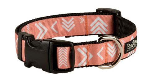 """Geo Dog Collar - Alternate Angle-Picture is 1"""" wide size Medium"""