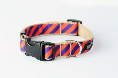 Collegiate - Clemson05 Dog Collar Tiger Rep Stripe