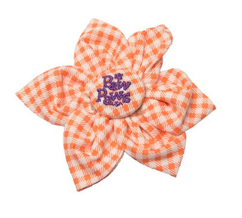 Southern Charm Collection - Checks Orange - Blossom