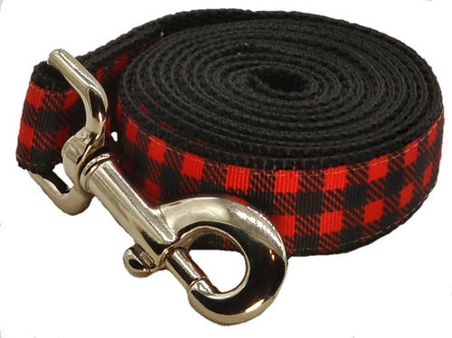 Fireside Dog Leash - Cocoa Red