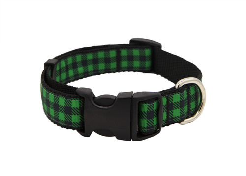 Fireside Dog Collar - Cozy Green