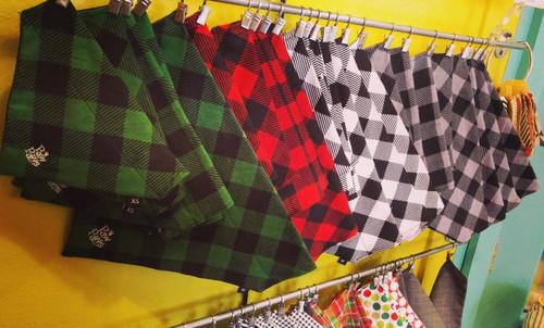 Buffalo Plaid Flannel Paw-kerchiefs