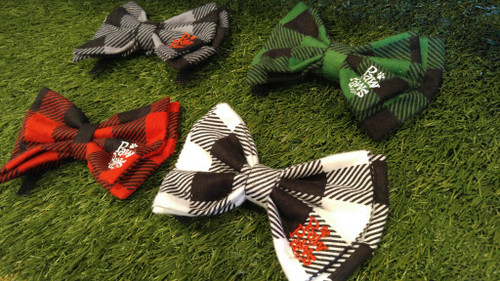 Buffalo Plaid Flannel Bow Tie