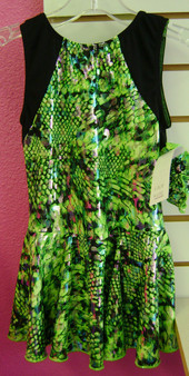 Skate/Lyrical Dress Lime Snake