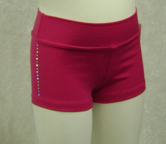Pink shorts with rhinestones
