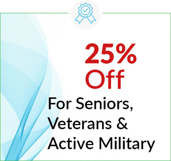 25% Off Dental Service for Seniors, Veterans and Active Military in Ann Arbor and Ypsilanti (Ypsi), Washtenaw, Michigan by Dental House