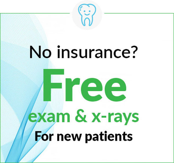 Free Dental Exam and X-Ray for New Patients - No Insurance Required at Dental Office in Ann Arbor and Ypsilanti (Ypsi), Washtenaw, Michigan