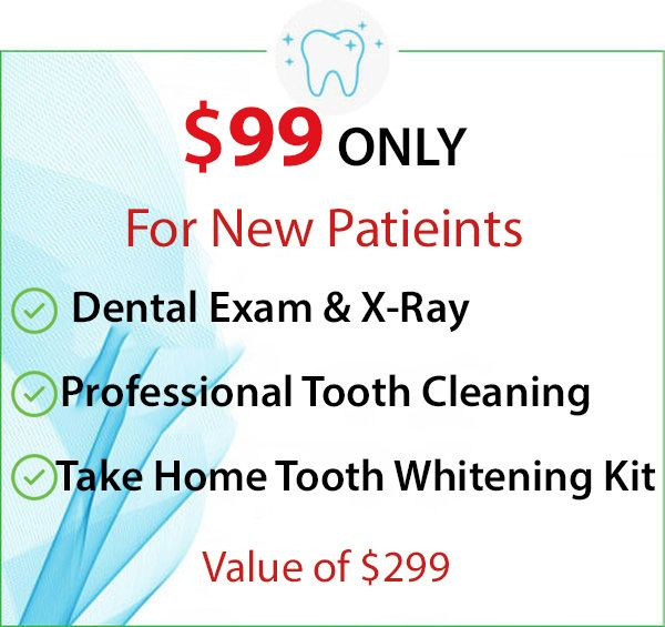 $99 New Patient Offer at your local dentist office in Ann Arbor, Waterford, Ann Arbor Charter Township, Pittsfield Charter Township, Saline, Ypsilanti, Ypsilanti Charter Township, Auburn Hills, Berkley, Birmingham, Bloomfield Hills, Clarkston, Clawson, Commerce Township, Davisburg, Farmington, Franklin, Hazel Park, Highland, Holly, Huntington Woods, Keego Harbor, Lake Orion, Madison Heights, Milford, New Hudson, Novi, Oak Park, Oakland, Ortonville, Oxford, Pleasant Ridge, Pontiac, Rochester, Royal Oak, Troy, Union Lake, Walled Lake, West Bloomfield, White Lake, Wixom