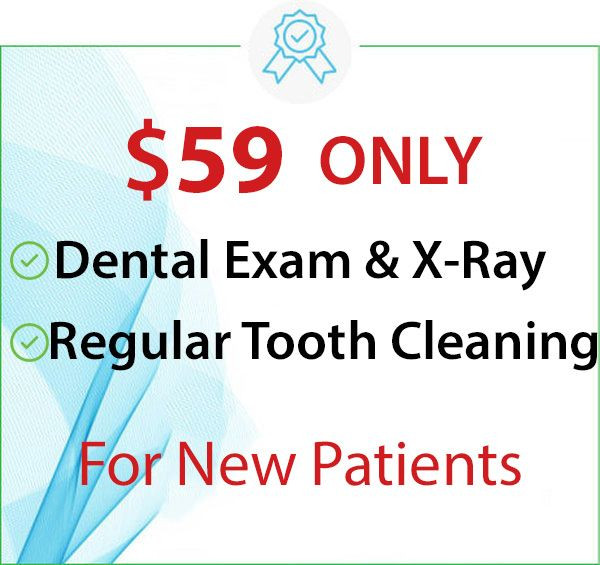 $59 Regular Tooth Cleaning and Dental Check-up for New Patient ONLY at your local dentist office in Ann Arbor, Waterford, Ann Arbor Charter Township, Pittsfield Charter Township, Saline, Ypsilanti, Ypsilanti Charter Township, Auburn Hills, Berkley, Birmingham, Bloomfield Hills, Clarkston, Clawson, Commerce Township, Davisburg, Farmington, Franklin, Hazel Park, Highland, Holly, Huntington Woods, Keego Harbor, Lake Orion, Madison Heights, Milford, New Hudson, Novi, Oak Park, Oakland, Ortonville, Oxford, Pleasant Ridge, Pontiac, Rochester, Royal Oak, Troy, Union Lake, Walled Lake, West Bloomfield, White Lake, Wixom