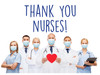 "COVID-19 Yard Sign - Thank You Nurses - 18"" x 24"""