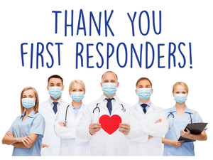 """COVID-19 Yard Sign - Thank You First Responders - 18"""" x 24"""""""