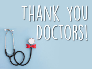 """COVID-19 Yard Sign - Thank You Doctors - 18"""" x 24"""""""