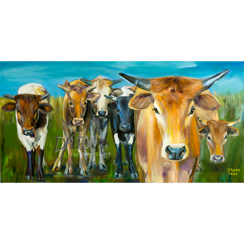 """""""Inquisitive Cattle on the Alert"""""""