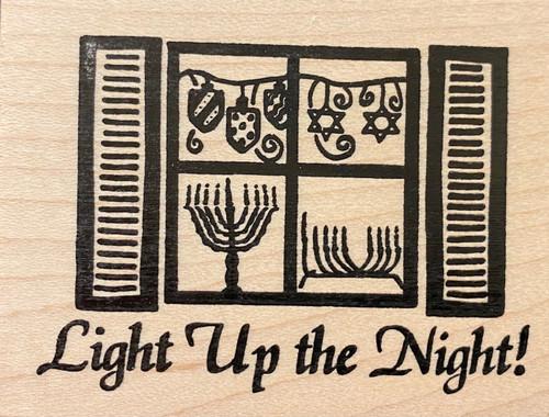 Light Up the (Hanukkah) Night Rubber Stamp