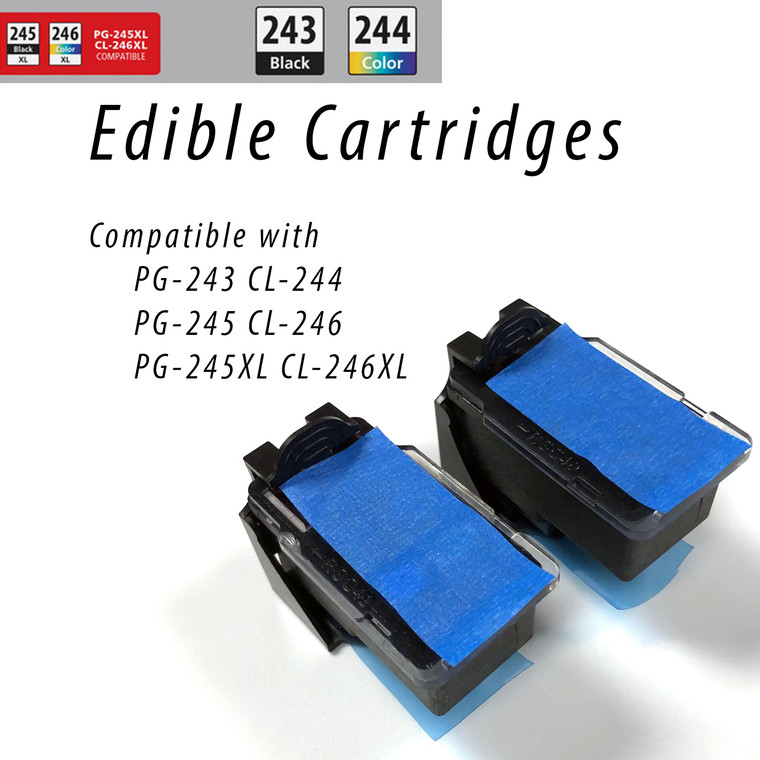 Edible CANON PG-245, CL-246 Ink Cartridges