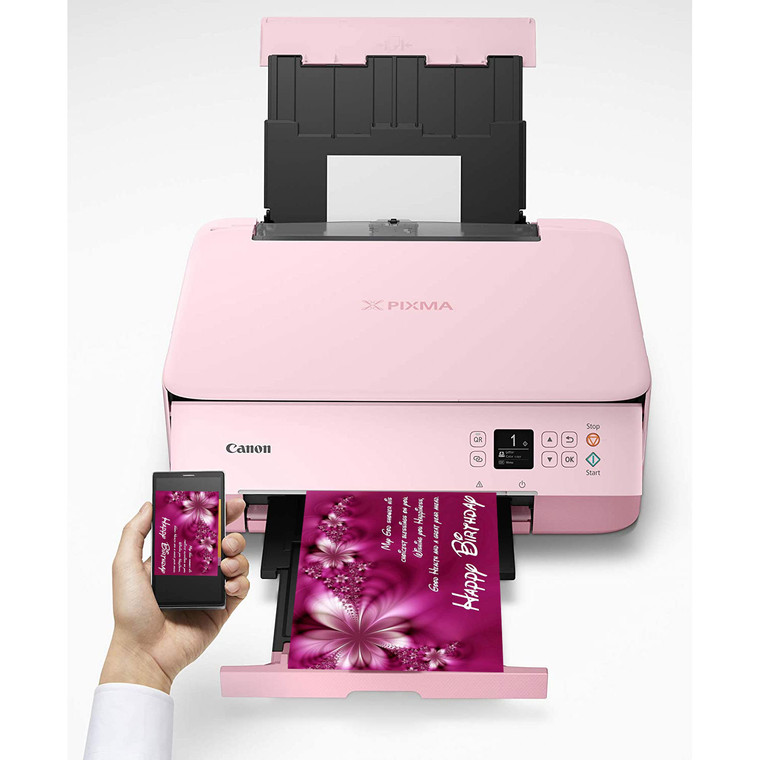 New Edible Canon Pixma TS5320 PINK Wireless All-in-One Printer Bundle with Free Sugar Paper